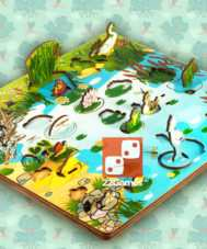 Обитатели пруда. Развивающая 3D-доска