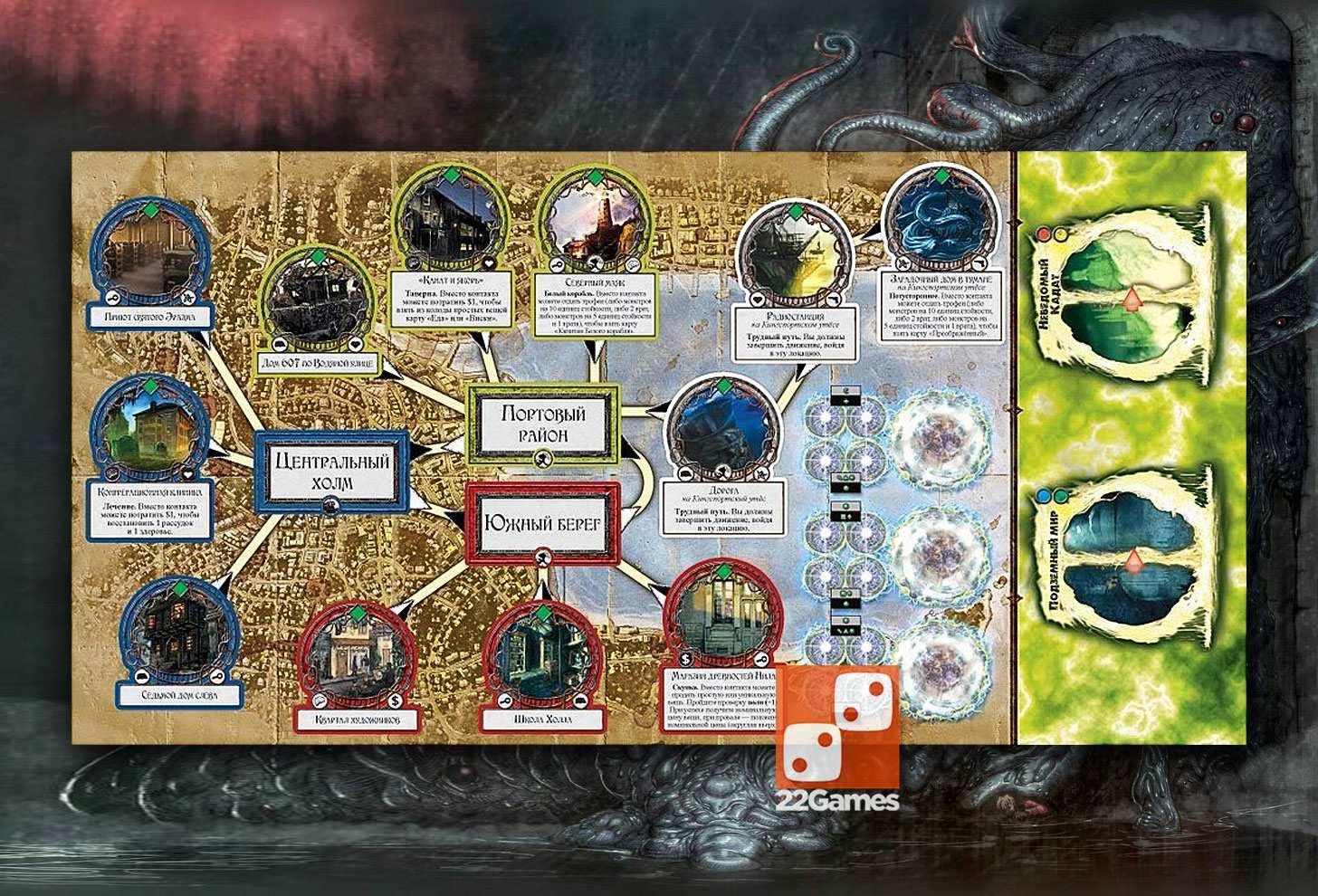 Ужас Аркхэма. Ужас Кингспорта. Arkham Horror: Kingsport Horror Expansion