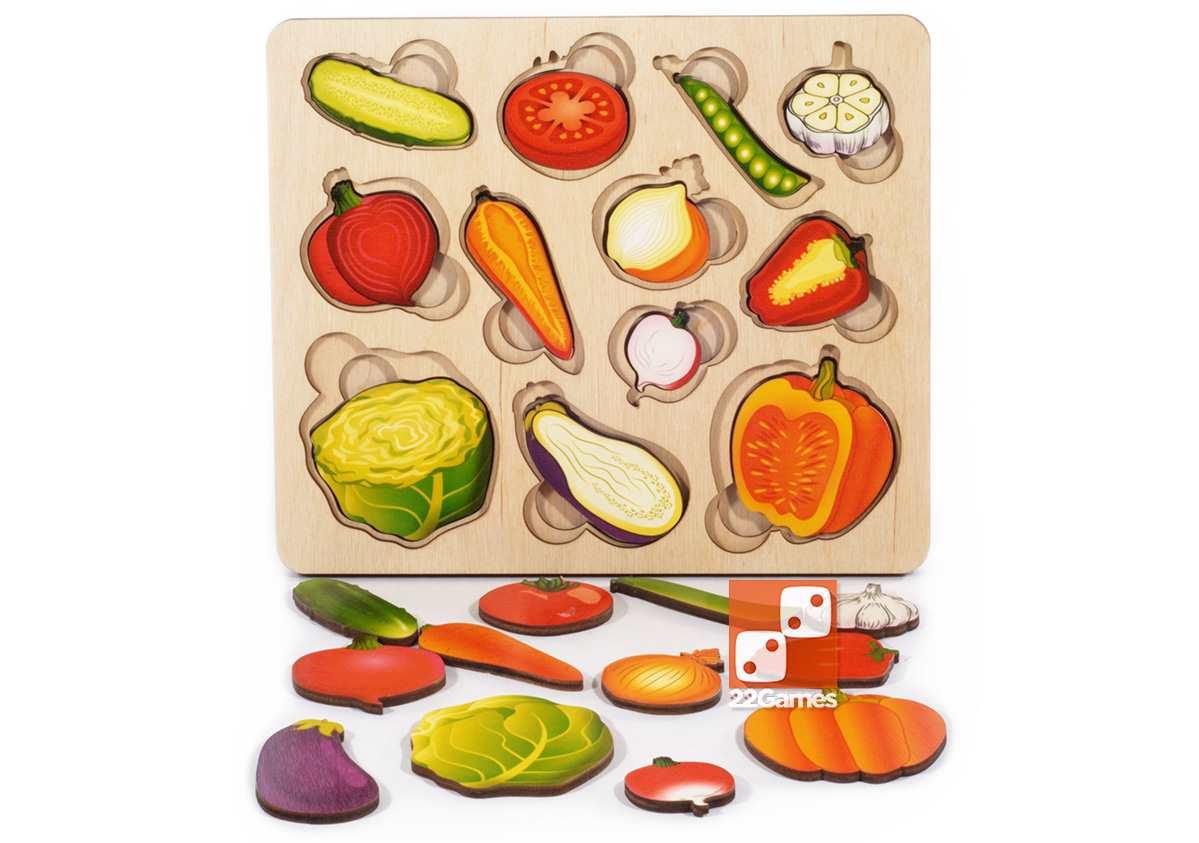 Развивающая доска Сегена «Овощи. Часть и целое»