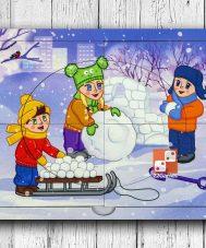 Двухслойный смарт-пазл «Зима»
