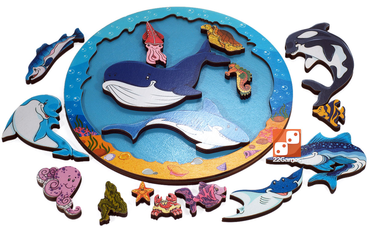 Деревянный Зоопазл «Подводный мир»