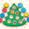 Развивающая доска «Секреты новогодней елочки»