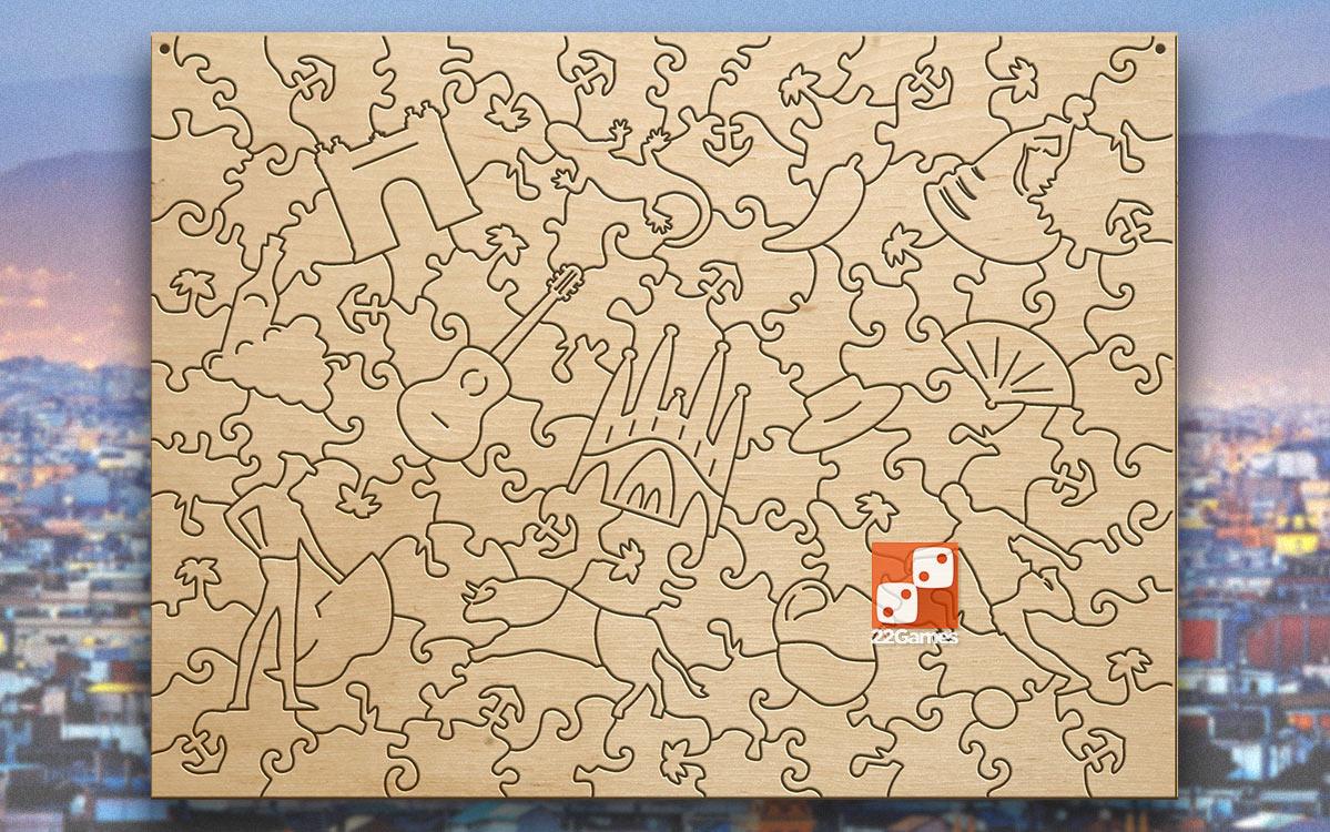 Фигурный деревянный пазл Citypuzzles «Барселона» (101 дет.)