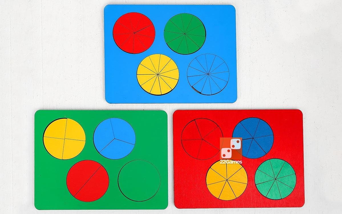 Развивающая игра «Дроби» (набор из трех уровней)