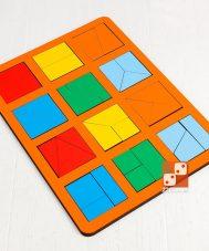 Сложи квадрат, 1 уровень сложности (макси)