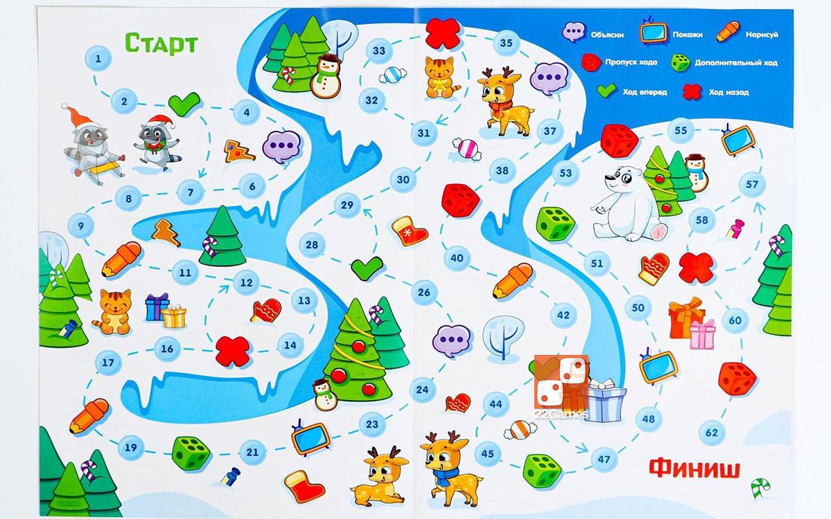 Настольная игра-бродилка с фантами «Зимние каникулы»