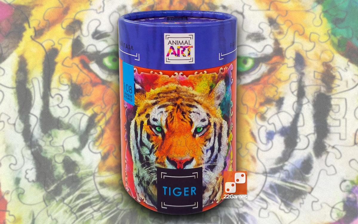 Фигурный пазл Animal Art «Тигр» (108 дет.)